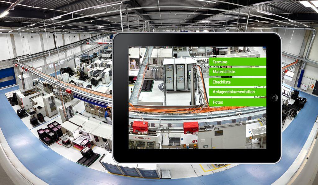 Der Einsatz mobiler Software kann bei der Instandhaltung mehrere Probleme lösen. Beispielsweise liegen Servicetechnikern immer die aktuellen Dokumente der jeweiligen Anlage vor. (Bild: Eberspächer GmbH)