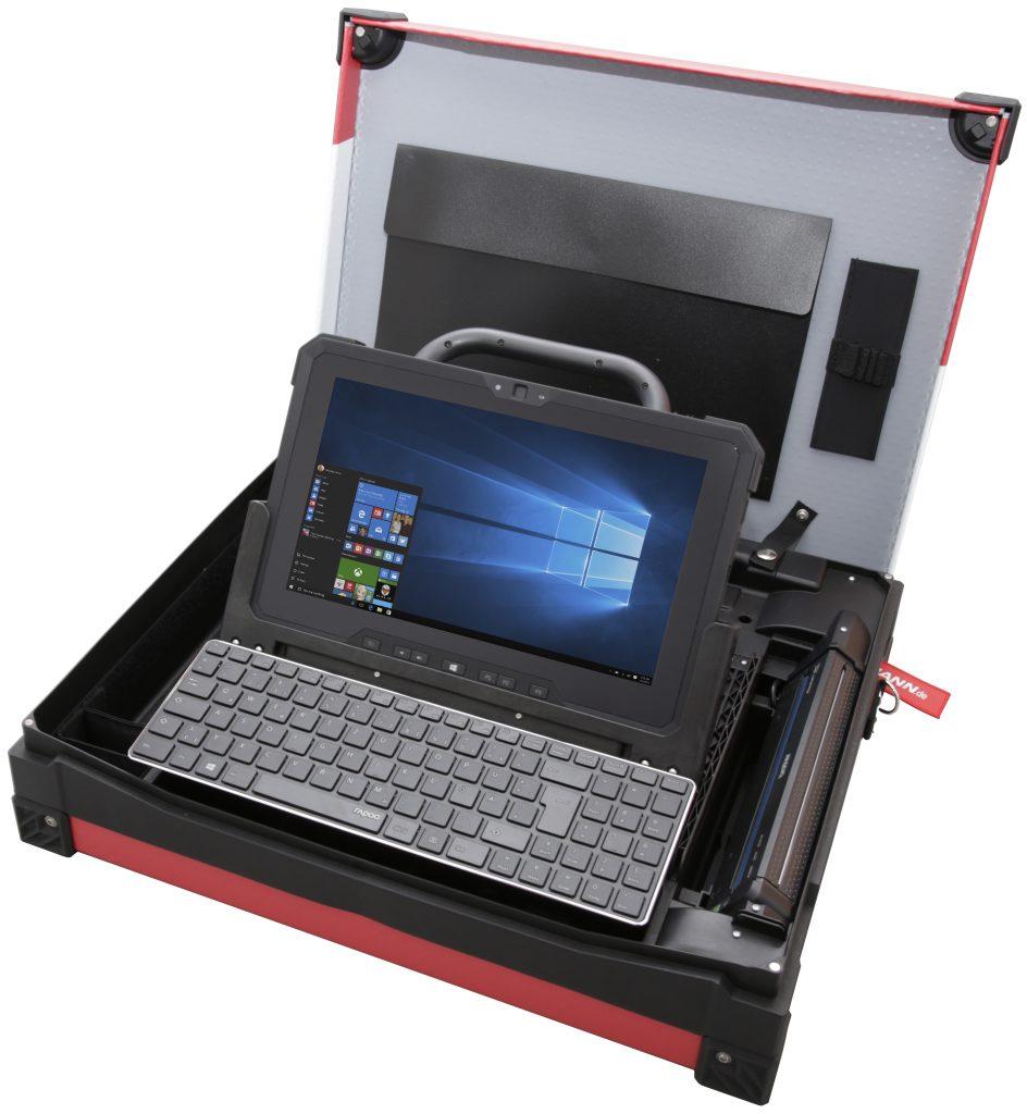 Herzstück des Technikerkoffers ist das Dell Latitude 12 Rugged 7212 Tablet. (Bild: Bormann)