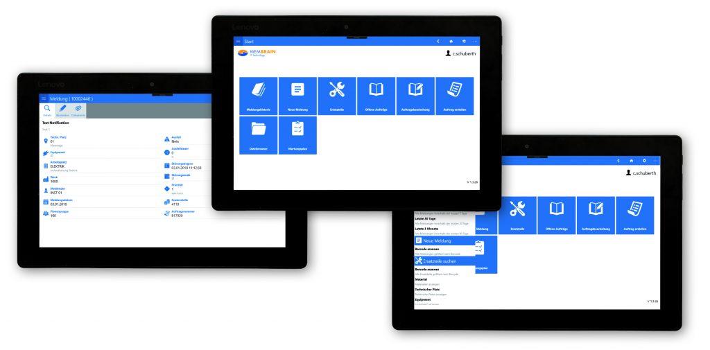 Eine App für Instandhalter ergänzt seit kurzem das Mobil-Portfolio der Membrain GmbH. (Bild: Membrain GmbH)