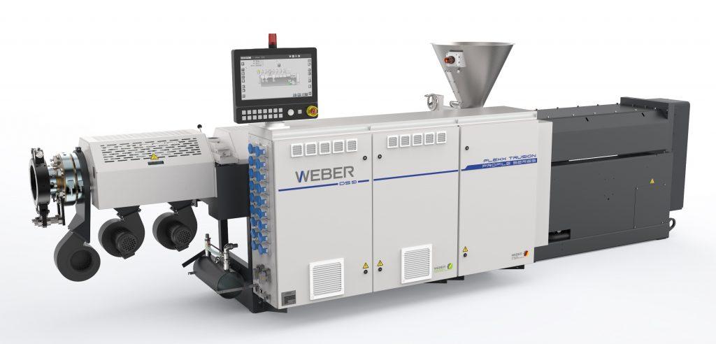 Extruder der Flexxtrusion-Serie sorgen für Flexibilität, etwa bei der Produktion von Fensterprofilen. (Bild: Hans Weber Maschinenfabrik GmbH)