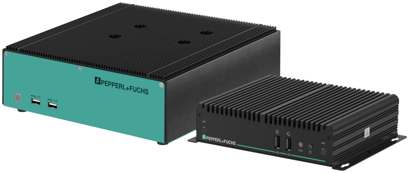 Links: BTC01 konzipiert für den Full-HD-Quad-Monitor-Betrieb. Rechts: BTC12-Gerätegeneration für Ultra-HD-Dual-Monitor-Anwendungen. (Bild: Pepperl+Fuchs GmbH)