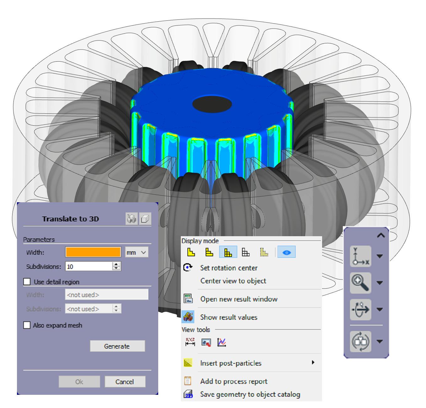Mit der neuen Best-Fit-Methode können Anwender das simulierte und das Referenzmodell miteinander vergleichen. (Bild: Simufact Engineering GmbH)