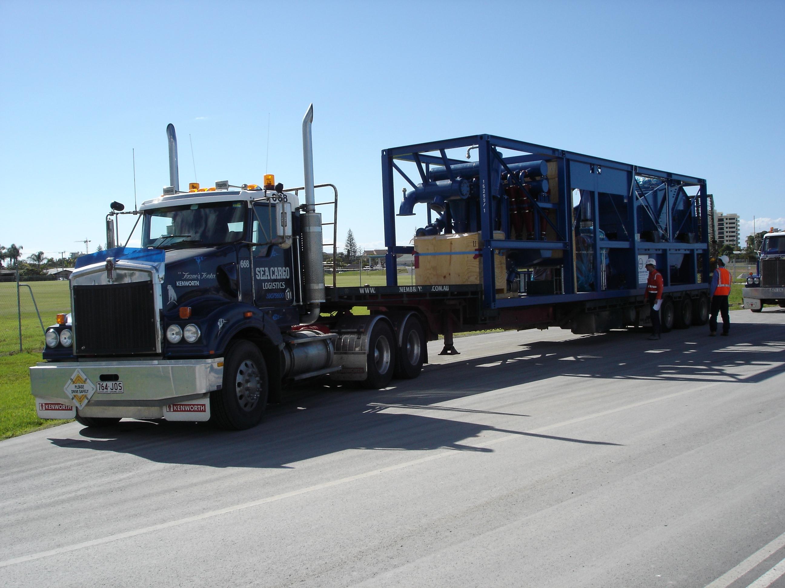 Transport einer Schauenburg-Anlage (Bild: Schauenburg Maschinen- und Anlagen-Bau GmbH)
