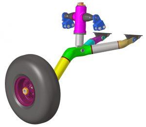 CAD-Modell einer geschweißten Hauptfahrwerksstruktur (MLG) aus hochfesten luftfahrtzugelassenen Stählen ... (Bild: Heggemann AG)