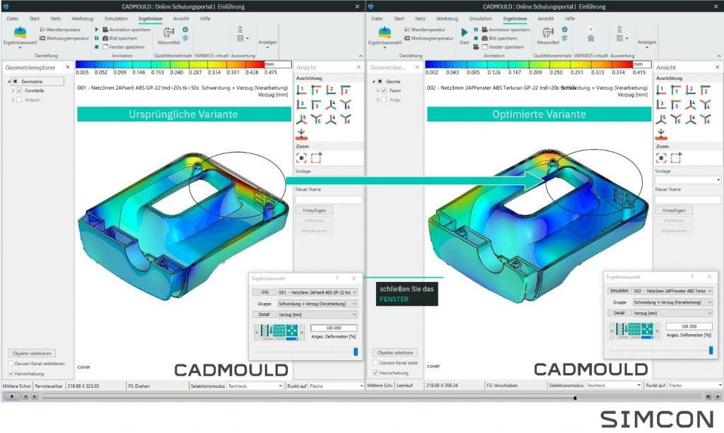 Auf der Kunststoffmesse K wird Simcon Mitte Oktober Cadmould 12 und einen neuen Online-Schulungsservice vorstellen. (Bild: Simcon Kunststofftechnische Software GmbH)