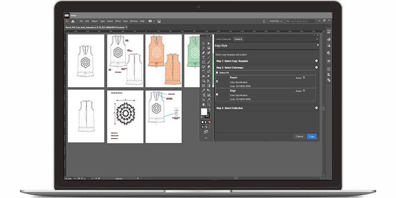 Adobe Illustrator lässt sich in Centric PLM integrieren. (Bild: Centric Software GmbH)