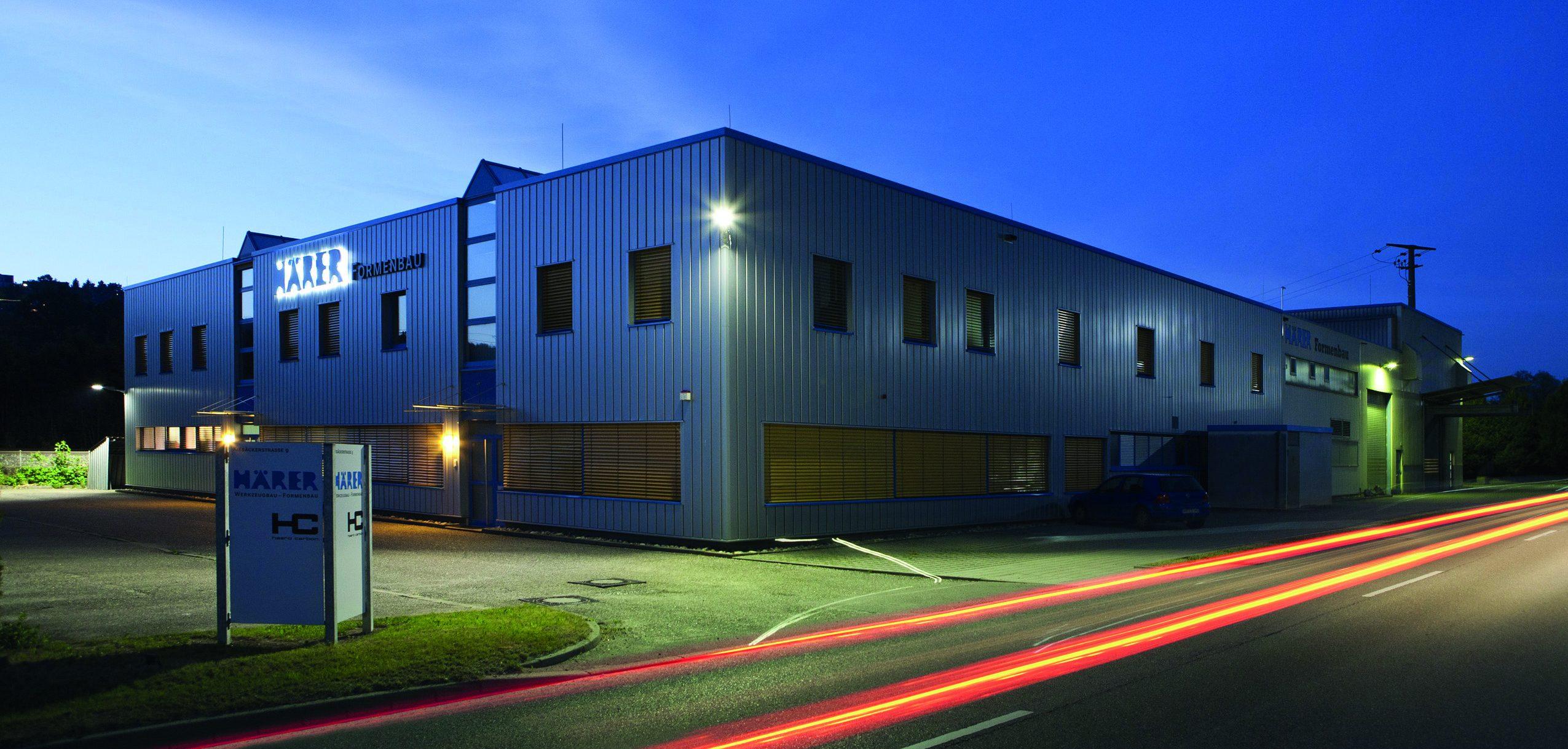 Das Gebäude der Alfred Härer GmbH (Bild: Fauser AG/Härer GmbH)