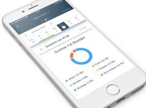 In der App werden Arbeitszeiten der Techniker bald automatisch in einem Tagesbericht zusammengefasst. (Bild: mobileX AG)