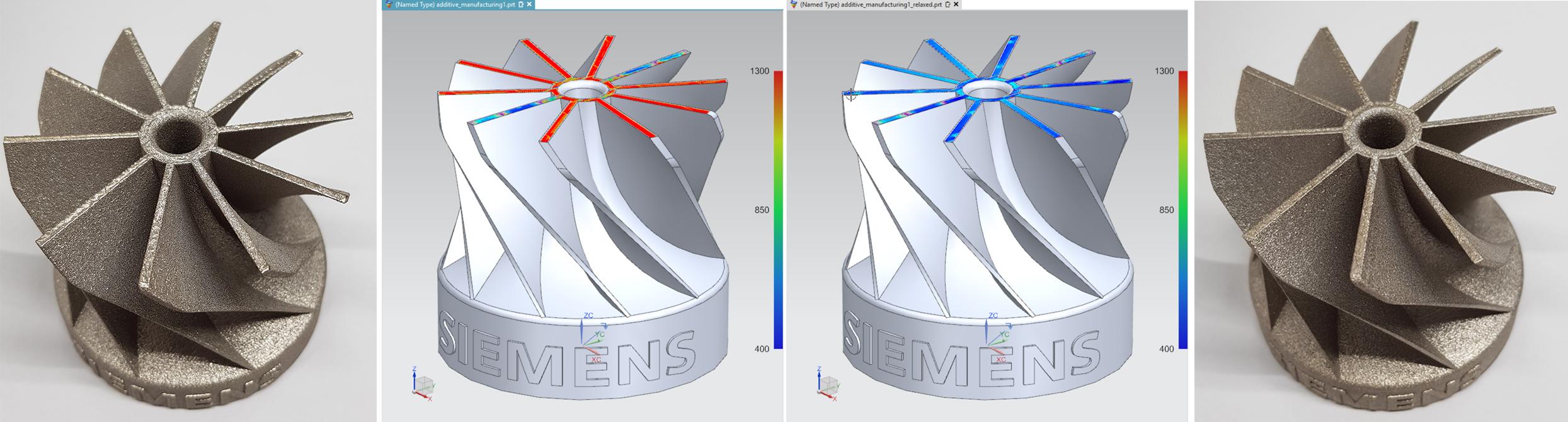 Überhitzung kann beim Prozess der additiven Fertigung zu Qualitätsmängeln führen. (Bild: Siemens AG)