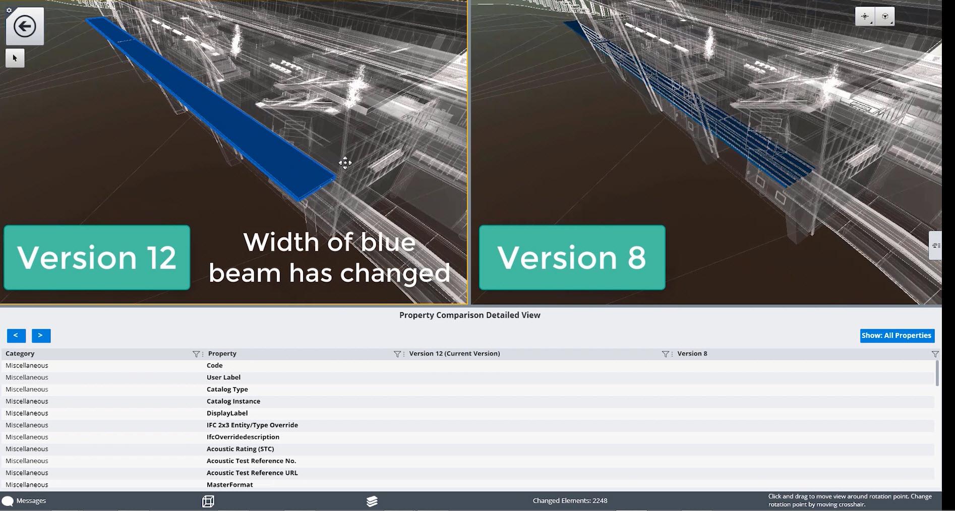 Digitale Zwillinge können die Planungskoordination verbessern, indem Änderungen verschiedener Versionen anhand einer Zeitleiste visualisiert werden. (Bild: Bentley Systems Germany GmbH)