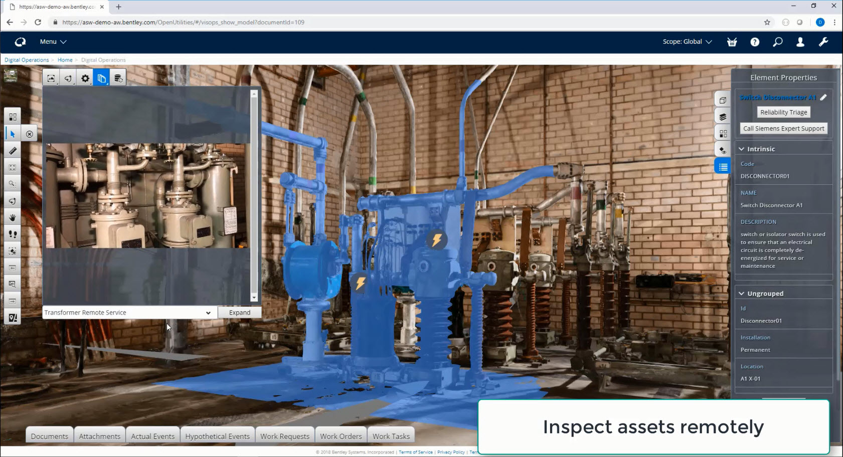 Digitale Zwillinge können Informationen aus verschiedenen Quellen zu realitätsnahen Visualisierungen und transparenten Analysen verbinden. (Bild: Bentley Systems Germany GmbH)