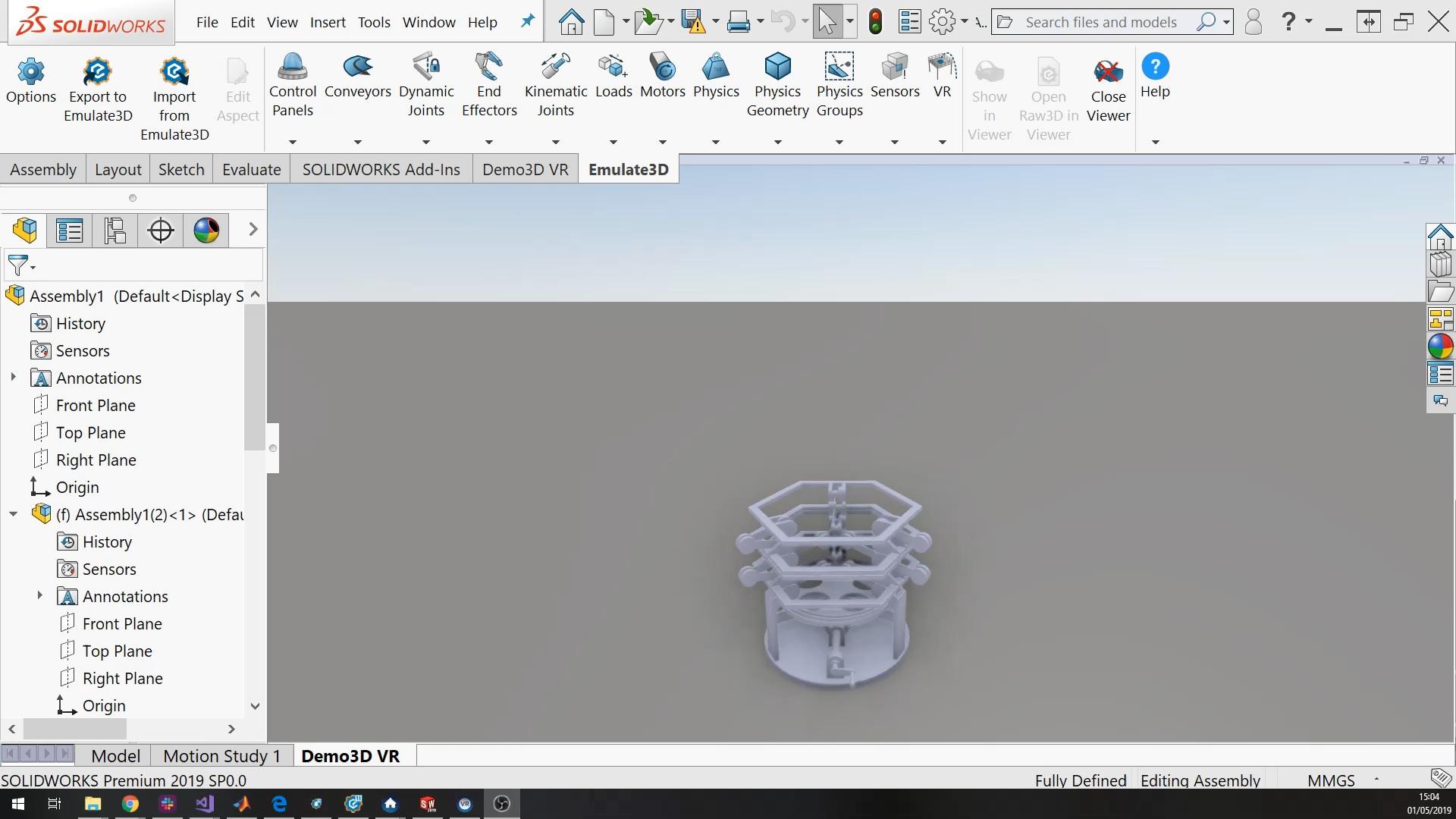Export und Import von Emulate3D-CAD-Daten über CITM (Bild: SimPlan AG)