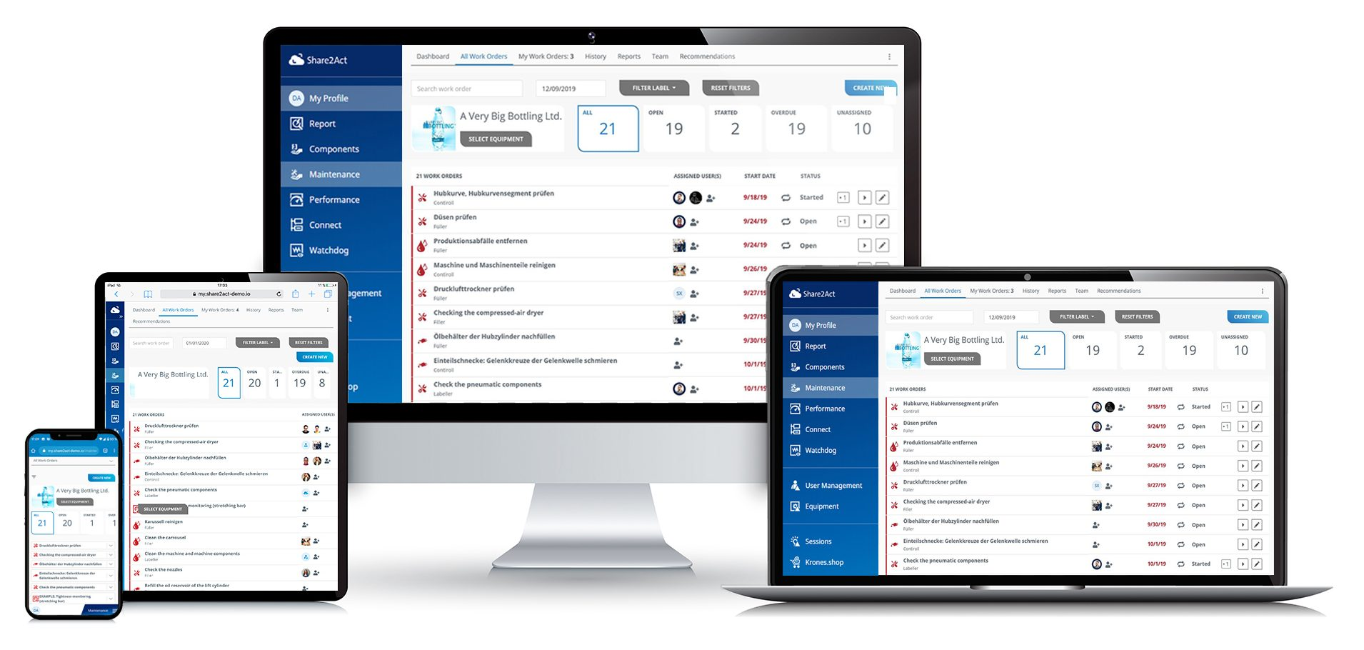 Syskron hat eine multimandantenfähige Plattform entwickelt, die herstellerübergreifend Maschinen miteinander verbinden und klassische MES-Funktionen bereitstellen kann. (Bilder: ©peshkov/Fotolia.com, Krones AG)