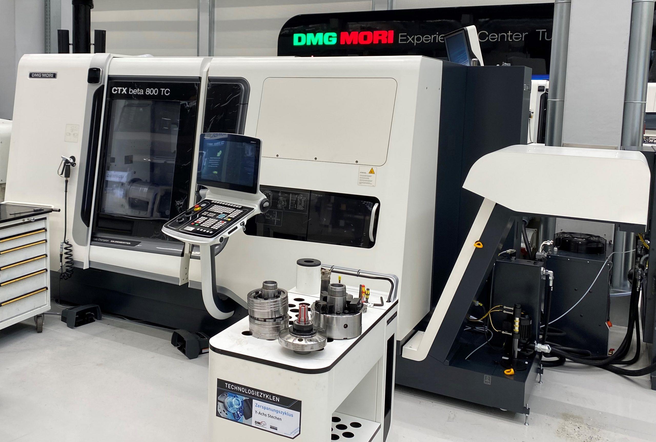 Umbau der CTX Beta 800 TC auf die automatisierte Fertigung mit einem Stangenlader. (Bild: DMG MORI Global Marketing GmbH)