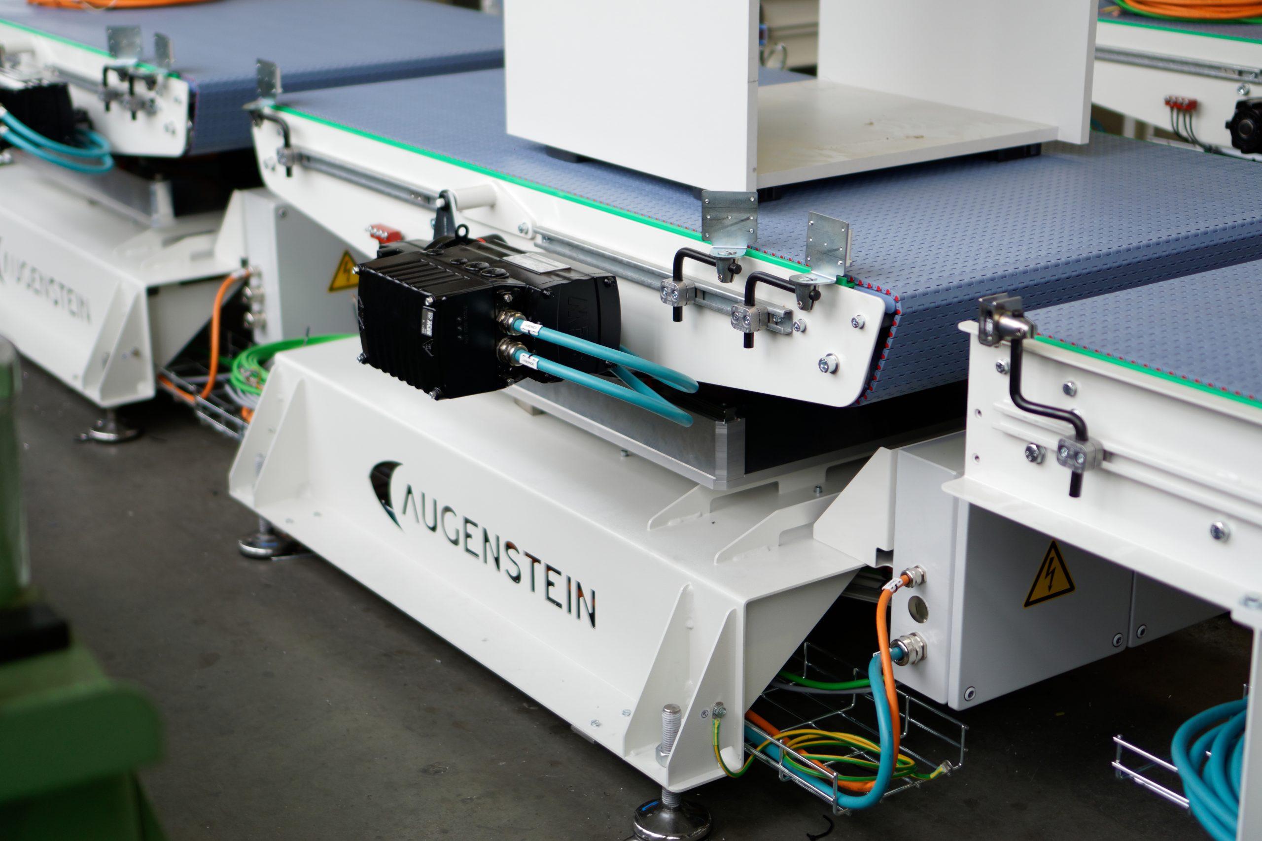 Kundenspezifische Fördertechnik entsteht bei Augenstein in eigener Konstruktion, Fertigung und Montage (Bild: Augenstein Maschinenbau GmbH)