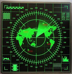 Quadratisches Display in einem Radargerät (Bild: Hy-Line Computer Components)