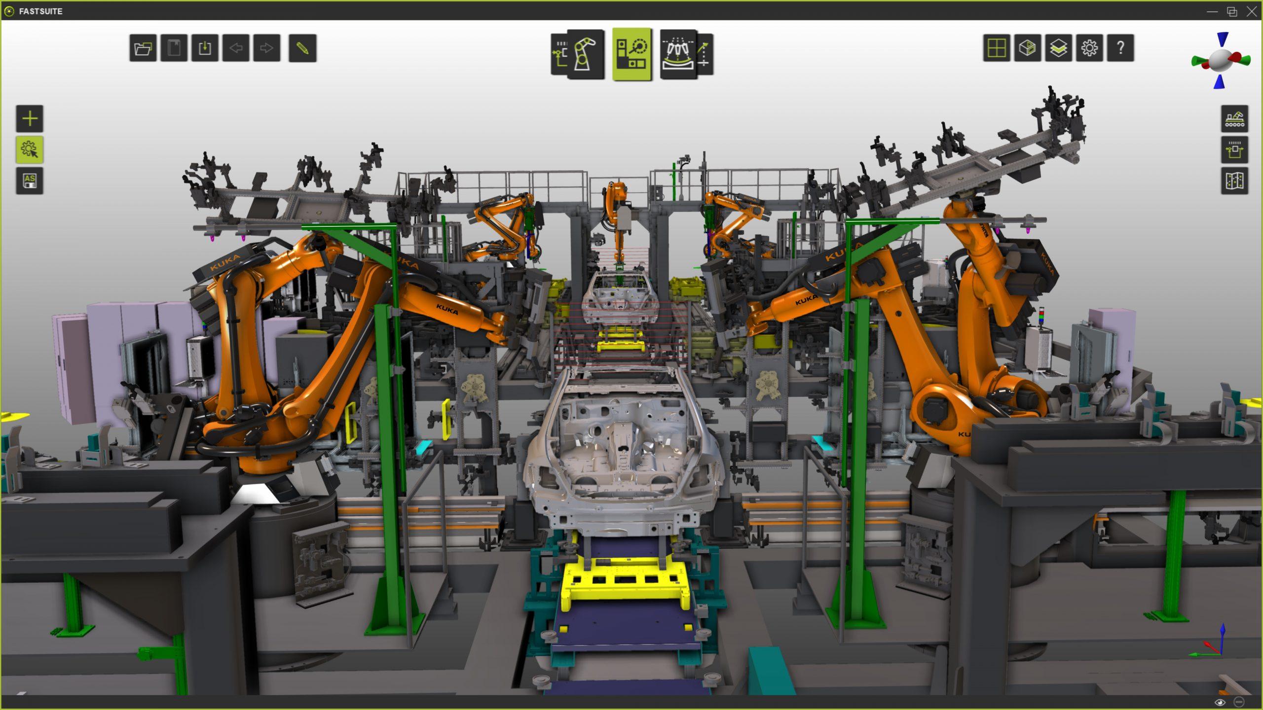 Fertigungsprozesse wie Rollfalzen, Kleben oder Lackieren können von einer virtuellen Programmier- und Simulationsumgebung profitieren. (Bild: Cenit AG)