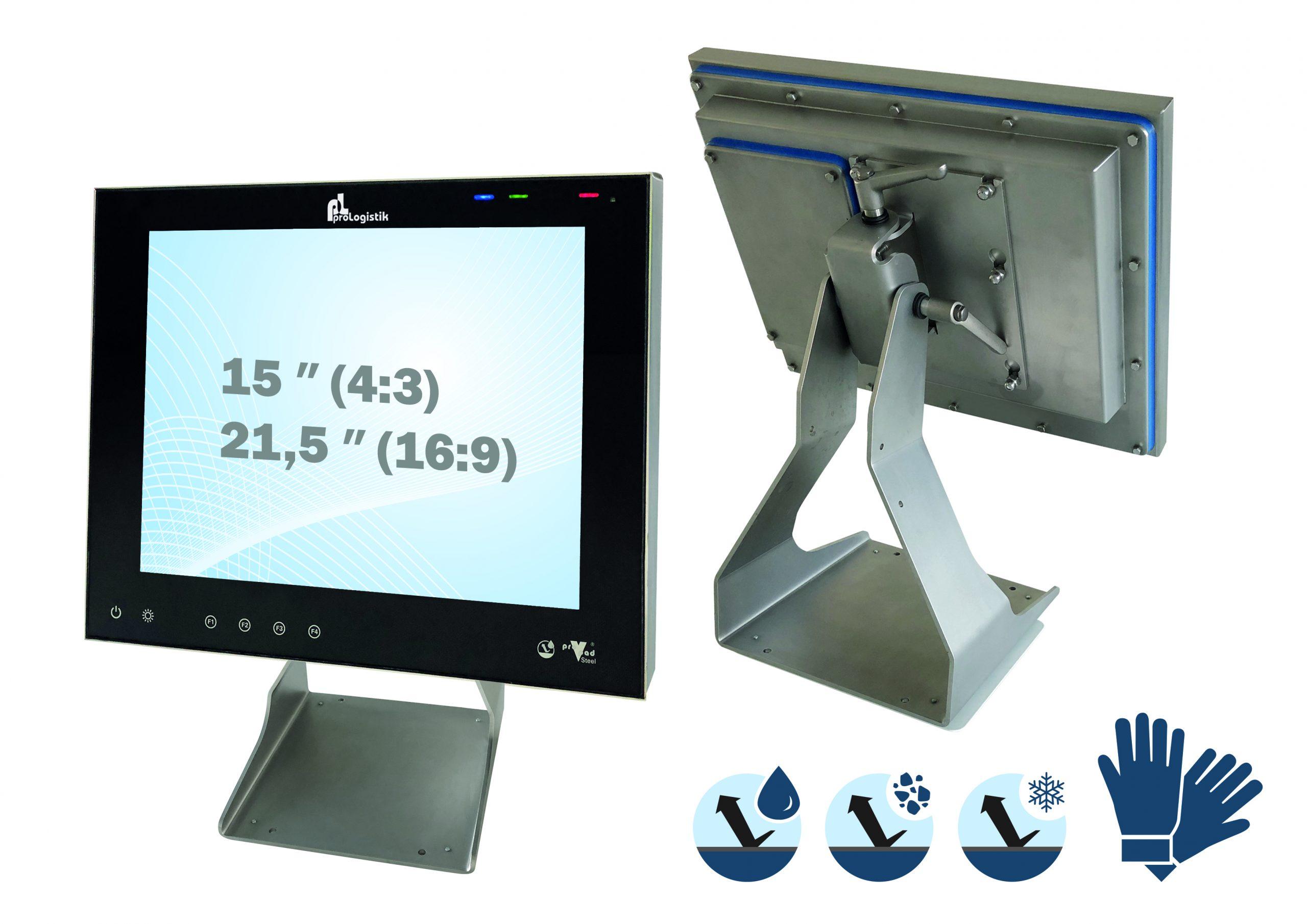 Die Steel-Serie ist in den Displaygrößen 12,1, 15, 19 und 21,5 Zoll erhältlich. (Bild: ProLogistik GmbH + Co KG)