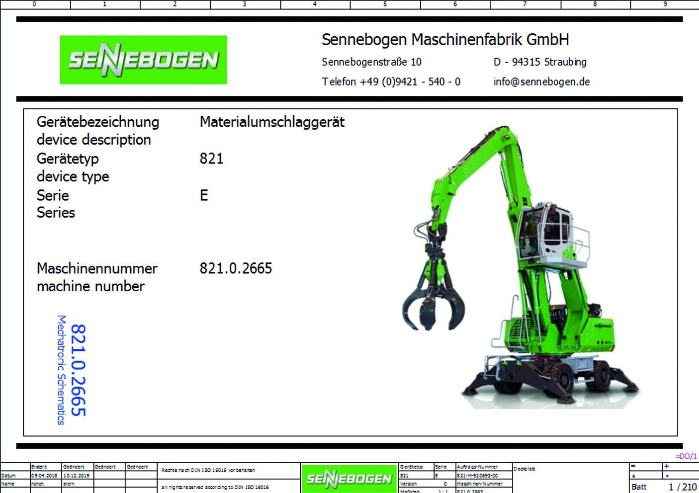 Für jede Maschinenbaureihe wurden Makros erstellt und sämtliche Optionen im EEC erfasst. (Bild: Sennebogen Maschinenfabrik GmbH)