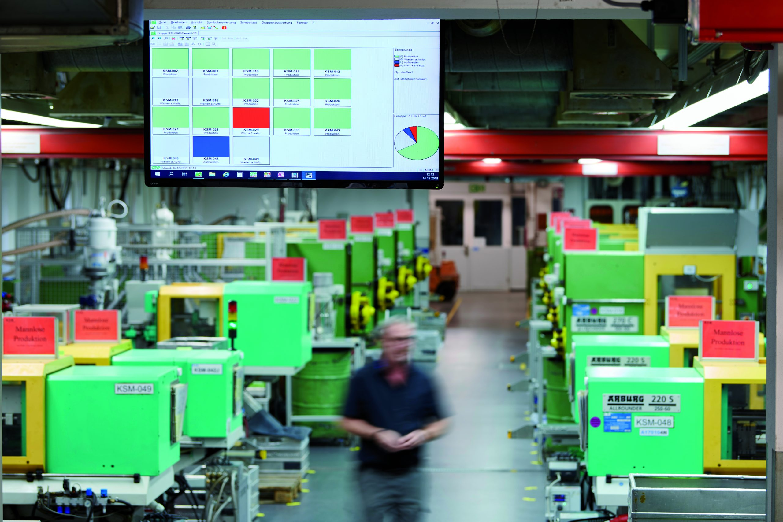 In beiden Werken befinden sich überall dort Terminals, wo Daten eingegeben oder sie aktuell benötigt werden. (Bild: Werksfotos GRP GmbH / Gerd Arnolds)