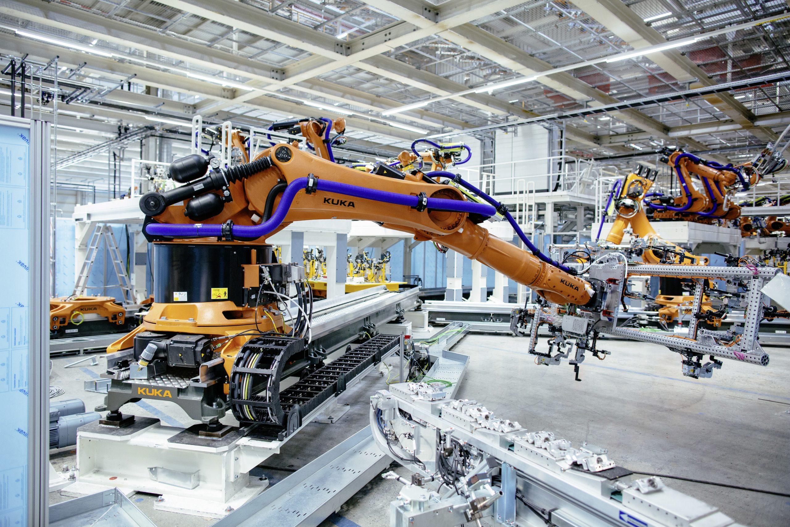 Blick ins VW-Werk Zwickau — Fertigungsstraße im Aufbau (Bild: Oliver Killig, ©Volkswagen AG)