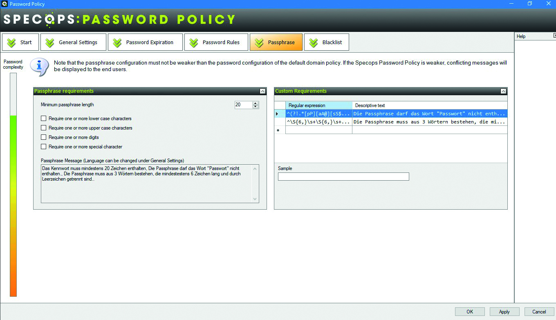 Specops Software hilft, eine Password-Strategie im Unternehmen zu verankern. (Bild: Specops Software)