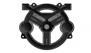 Komplexes 3D-Design einer Vorrichtung, die mit dem FDM Assembly Fixture Generator in der Engineering-Software nTop Platform erstellt wurde. (Bild: Stratasys GmbH)