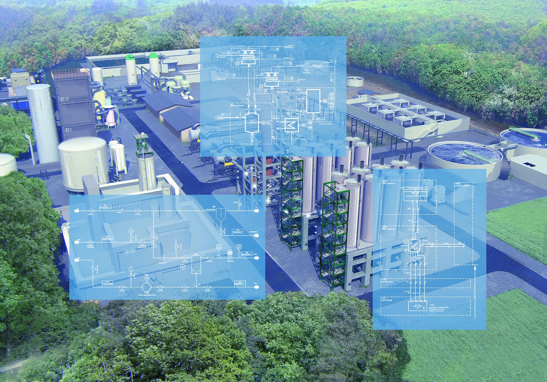 Überwachen und Optimieren sind nur zwei von vielen Aufgaben, die sich mit digitalen Zwillingen unterstützen lassen. (Bild: Aucotec AG)