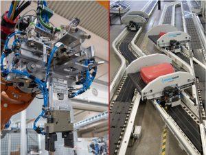 (links: Bild: VAF GmbH / rechts: Bild: Beumer Group GmbH & Co. KG)
