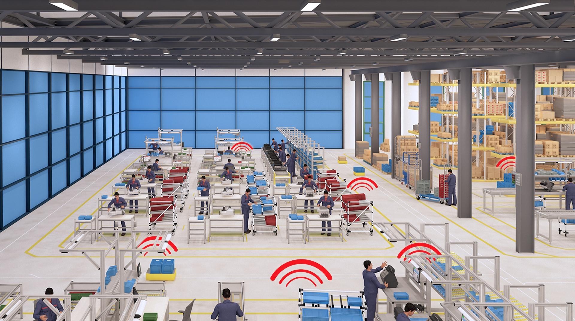 Über ein einziges Funknetzwerk können verschiedene Applikationen Signale austauschen. (Bild: Steute Technologies GmbH & Co. KG, Löhne)