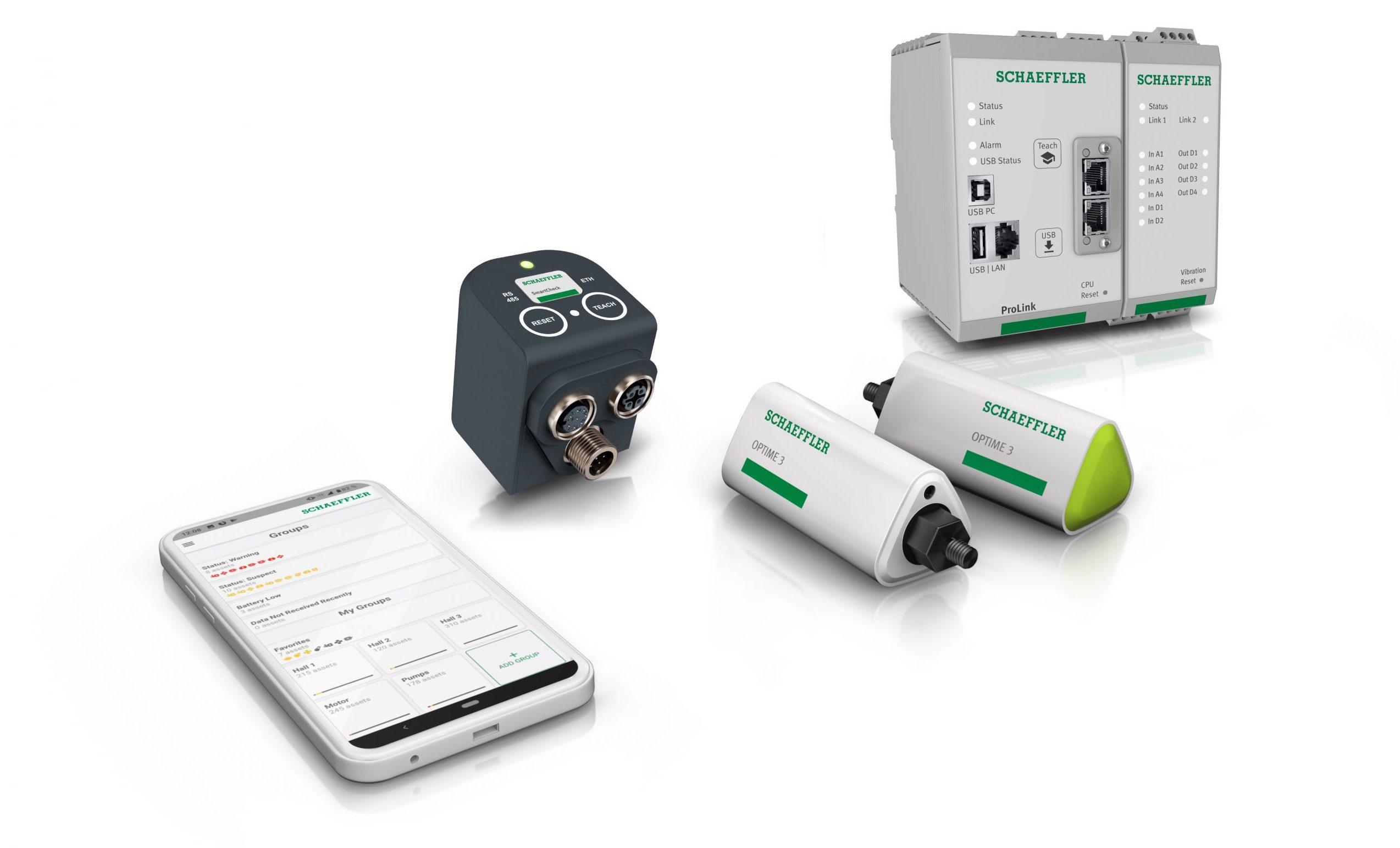 SSeit kurzem können drei IoT-fähige Hardware-Lösungen an Optime angebunden werden. (Bild: Schaeffler Technologies AG & Co. KG)