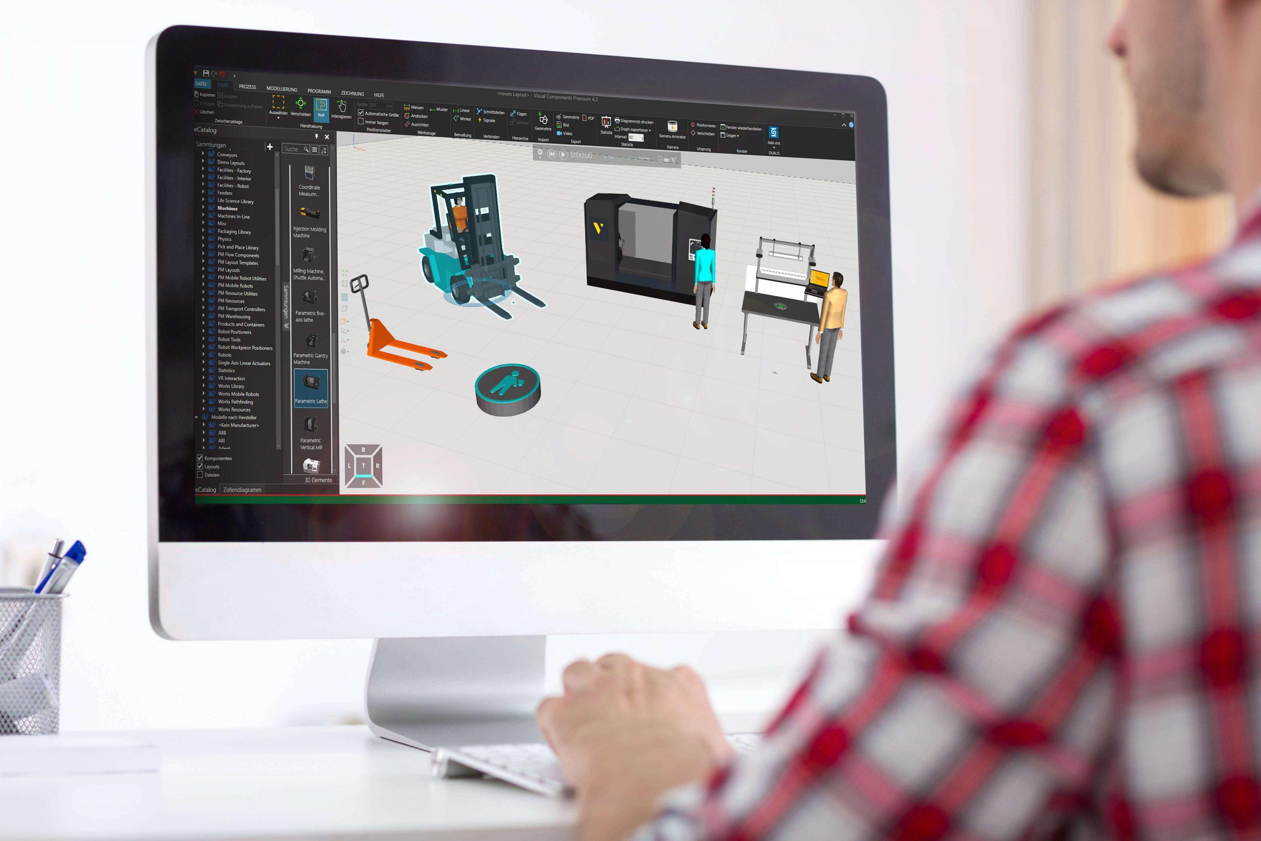 Der Visual-Components-Distributor Dualis entwickelt Addons und Dienstleistungen rund um die Simulationsplattform. (Bild: Dualis GmbH IT Solution)