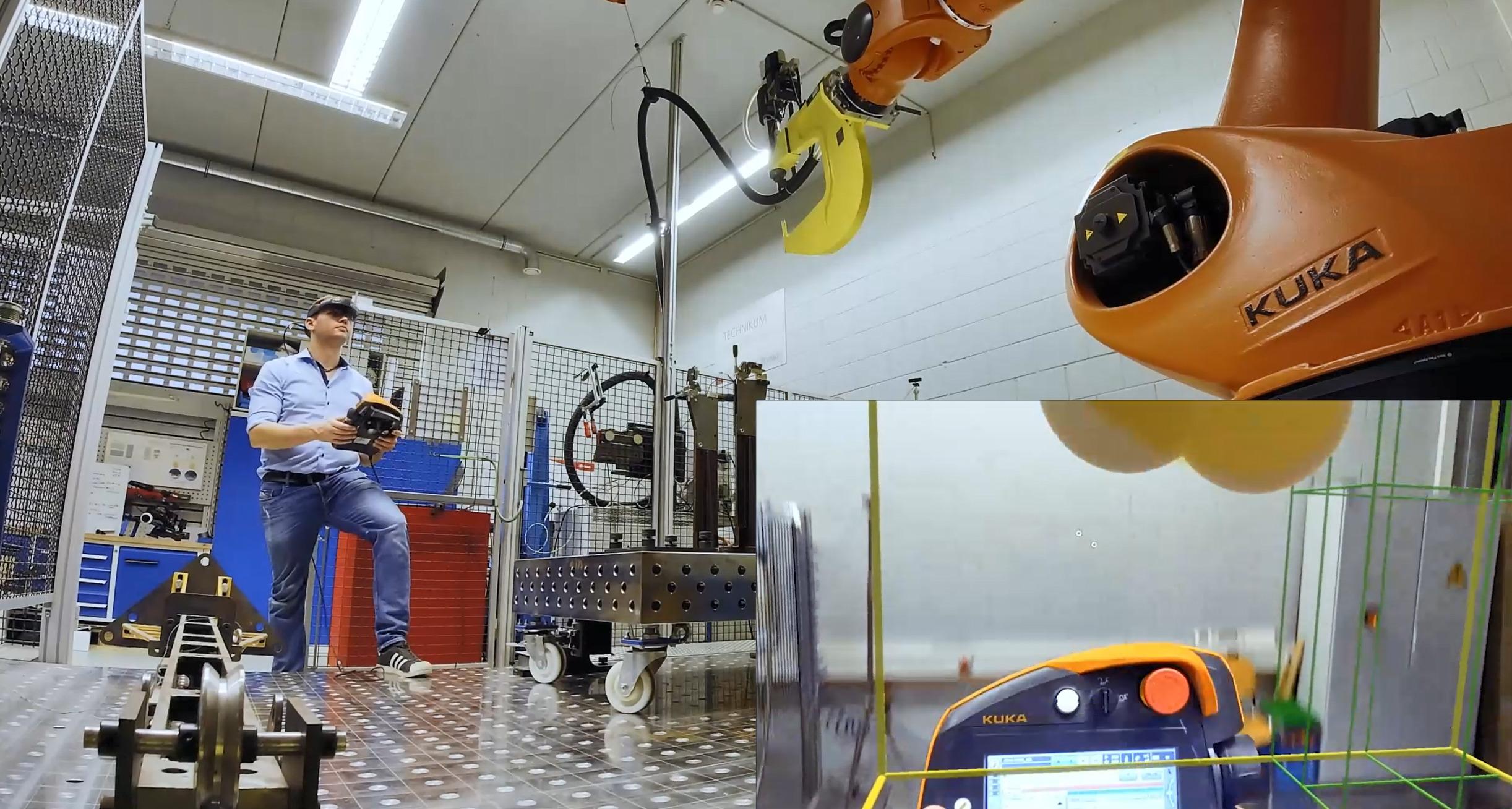 Sicherheit ist im Umfeld der Industrierobotik eine zentrale Aufgabe. XR-Technik kann helfen, Geschwindigkeit in die Abläufe zu bringen. (Bild: EDAG Production Solutions GmbH & Co. KG)