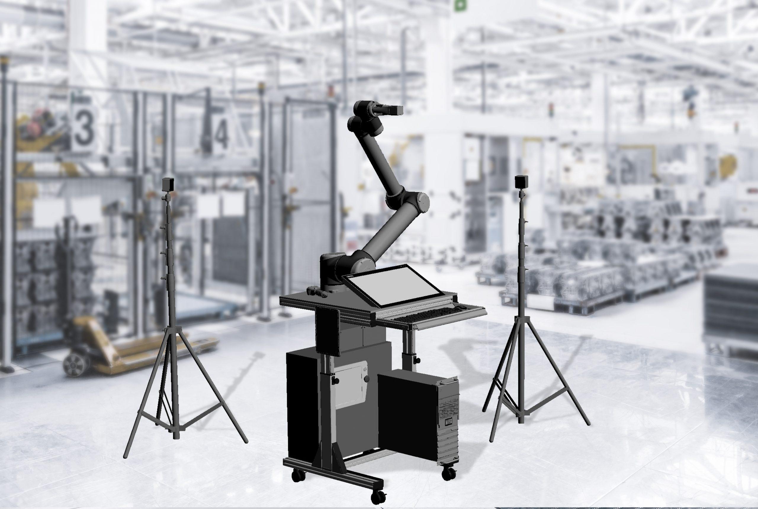 Konstruktionszeichnung des 'RoboSpector' (Bild: Robotron Datenbank-Software GmbH & Wandelbots GmbH)