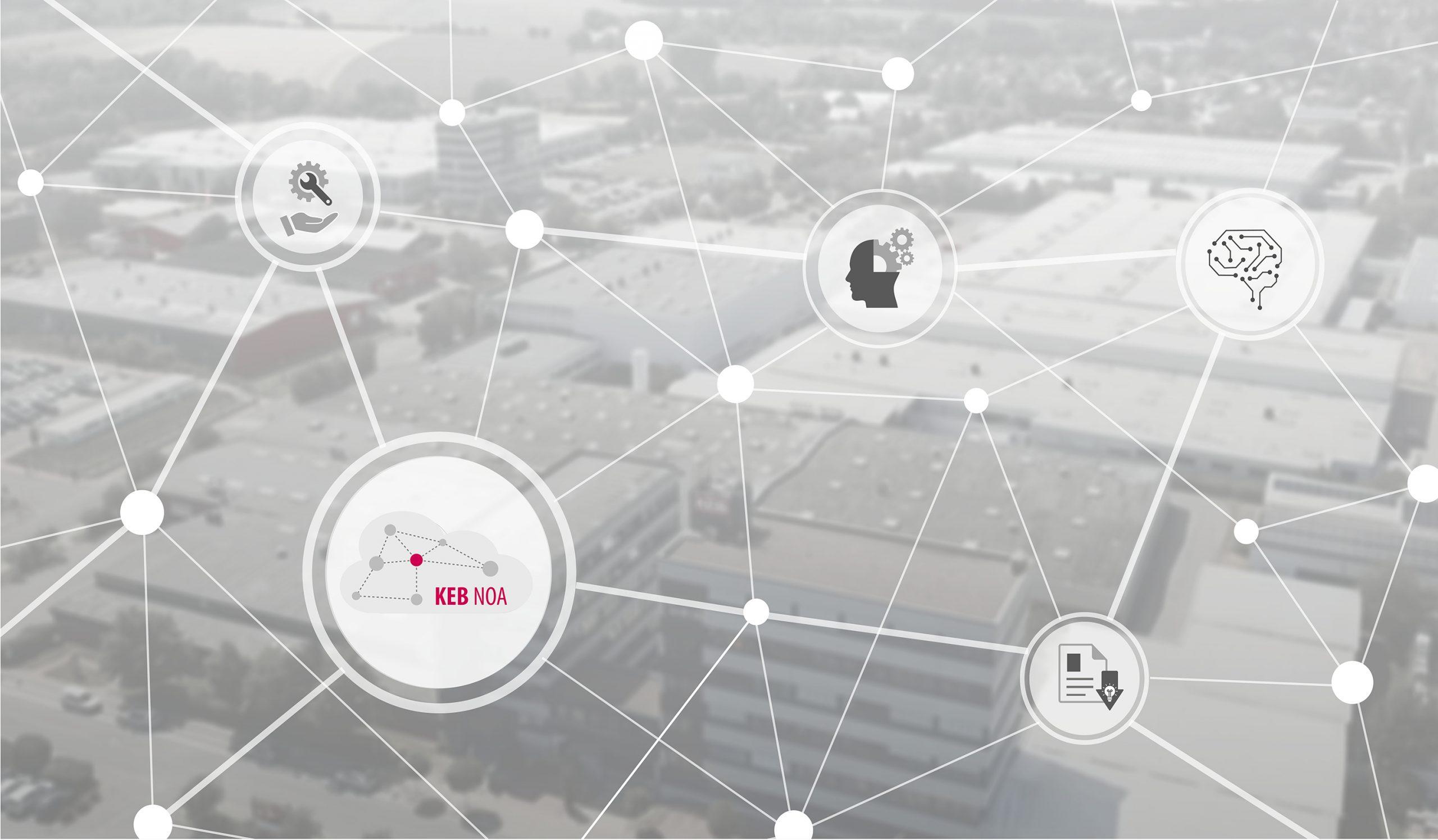 Algorithmen, Machine Learning und KI ermöglichen etwa Condition Monitoring und Predictive Maintenance mit KEB NOA. (Bild: KEB Automation KG)