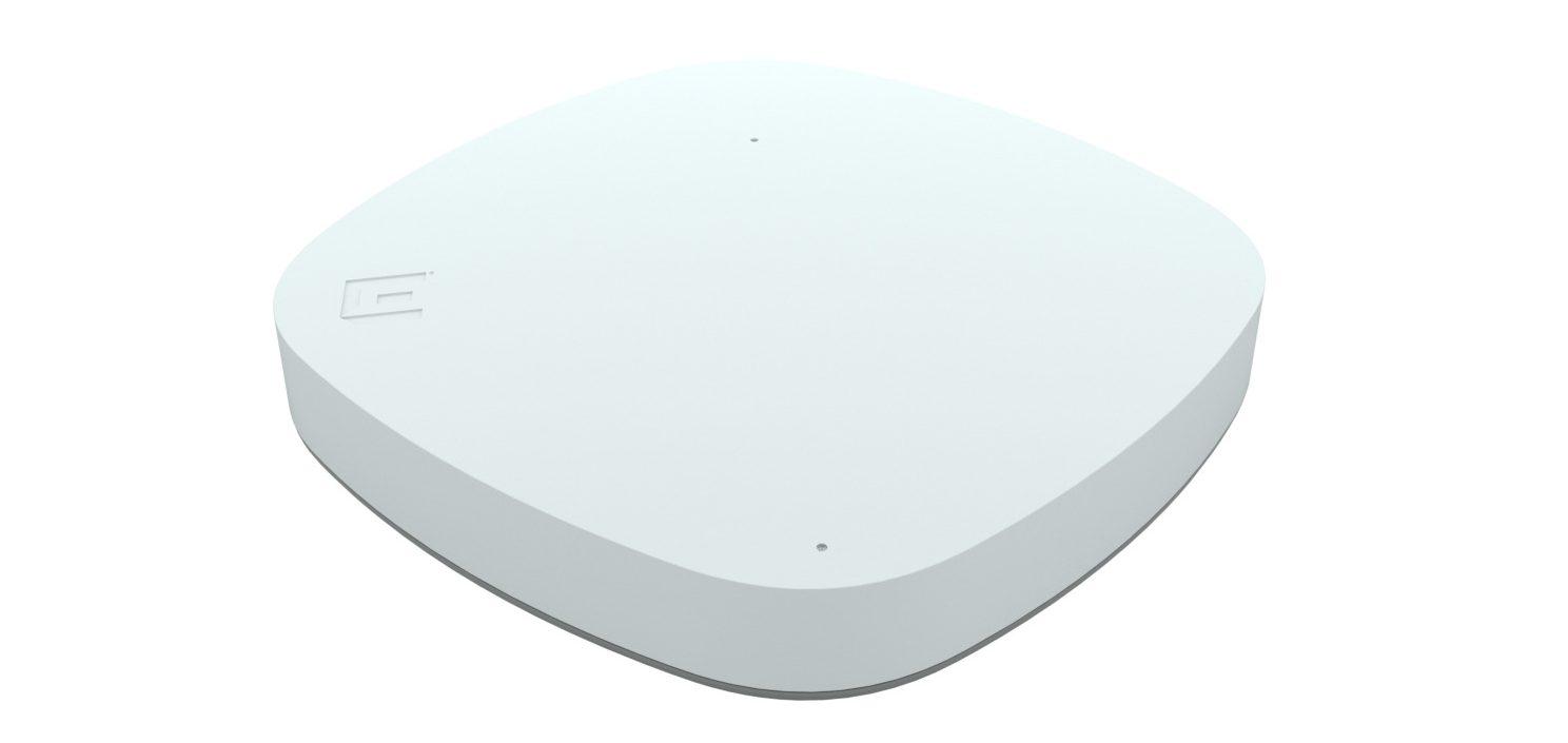 Der Access Point misst 20 auf 20 Zentimeter, was für die Enterprise-Klasse recht kompakt sein sollte. (Bild: Extreme Networks GmbH)